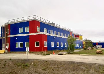 Inuvik's hospital is pictured in the summer of 2019
