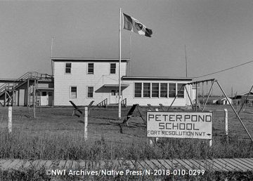 Peter Pond School, in Fort Resolution, was one of the former federally-run Indian day schools in the NWT