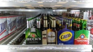 Beer at a Yellowknife liquor store