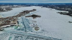 Yellowknife Bay from the air