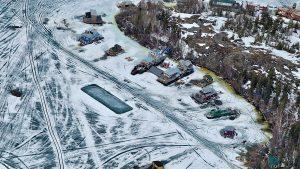 Houseboats on Yellowknife Bay