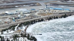 Yellowknife Airport from the air