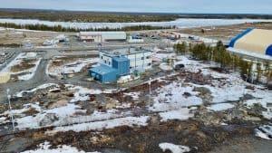A building belonging to Malca-Amit Ltd, a diamong logistics company, at Yellowknife Airport