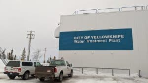 The City of Yellowknife's water treatment plant in April 2020. Sarah Pruys/Cabin Radio