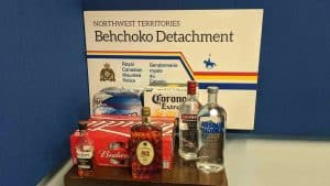 A submitted photo of the alcohol seized in Behchoko in mid-May 2020.