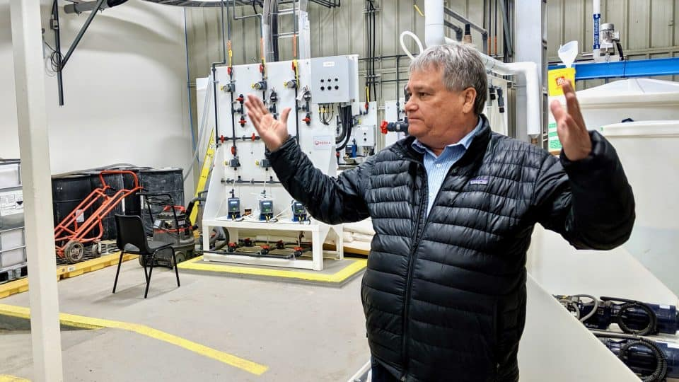 Grant Hood, Inuvik's town administrator, is pictured at the community water treatment plant in June 2019