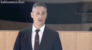 RJ Simpson in the NWT legislature in May 2020