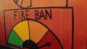 Transformer box art illustrates that fire danger is extreme. Sarah Pruys/Cabin Radio