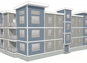 A rendering of the proposed West Bay condo building published online by Coldwell Banker