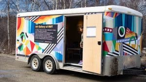 YK ARCC's mobile art gallery in May 2020