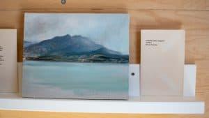 Alberta Lake, in Jasper, as painted by Manitoba-based artist Shelley Vanderbyl.
