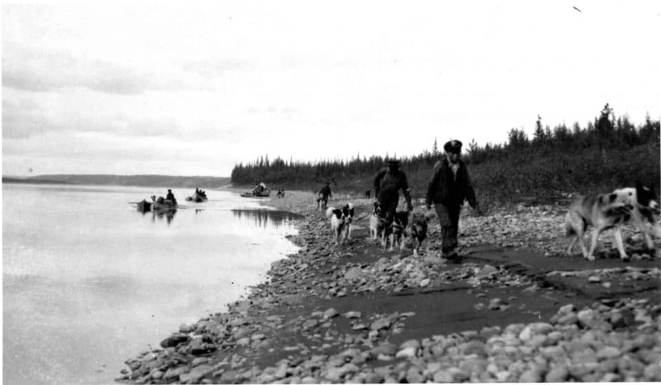 """Travelling with dogs and canoes"" from the National Photography Collection held by Public Archives Canada"