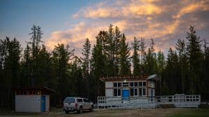 A file photo of the Escarpment Creek Group Camping Area in June 2020. Sarah Pruys/Cabin Radio