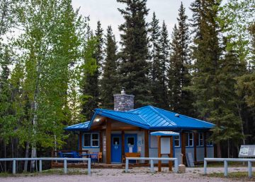 A file photo of Lady Evelyn Falls Territorial Park in June 2020. Sarah Pruys/Cabin Radio