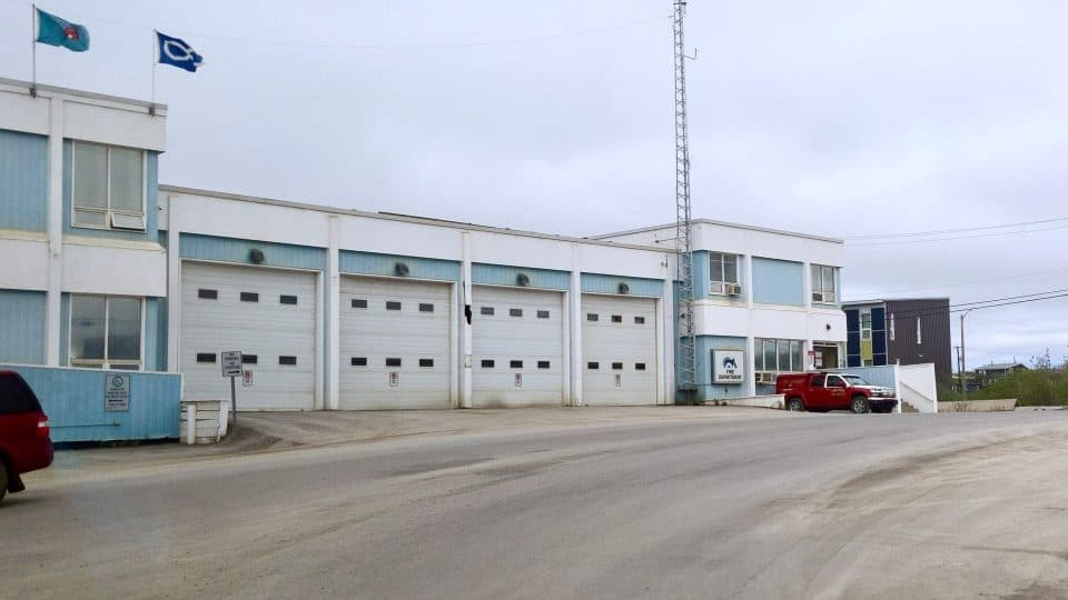 A file photo of the Town of Inuvik's fire hall