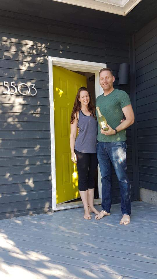 The day Shannon and Scott moved in to their home on 50A Avenue. Photo: Submitted