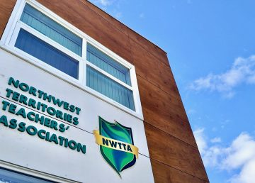 The NWT Teachers' Association building in downtown Yellowknife