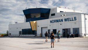 Norman Wells' airport in June 2020