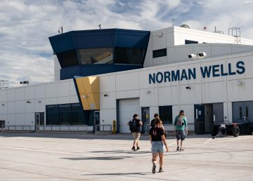 Norman Wells' airport in June 2020