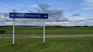 A sign for Fort Simpson Territorial Park