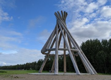 Fort Simpson's 55-foot wooden teepee