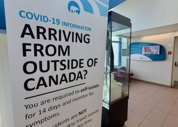 A sign at Norman Wells' airport greets travellers