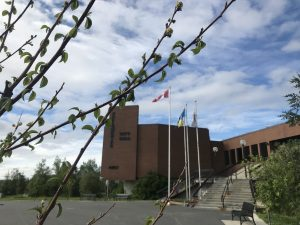 A file photo of Yellowknife City Hall. Emily Blake/Cabin Radio