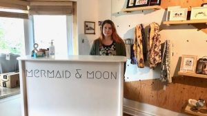 Meredith McNulty, owner of the Mermaid and Moon Boutique on 47 Street
