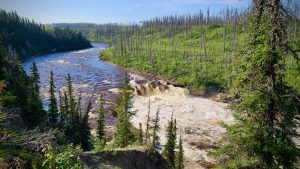 The Dehcho's Coral Falls in August 2020