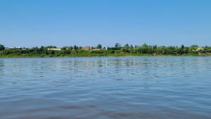 A view of Fort Simpson from the Mackenzie River