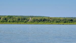 Fort Simpson's tipi in August 2020