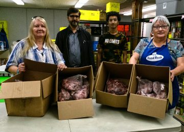 The Islamic Centre of Yellowknife donated Qurbani meat to three community organizations in the city this week. Their first stop was the Yellowknife Food Bank