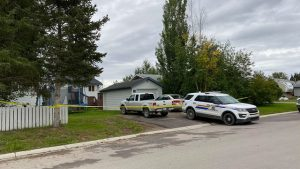 A home on Hay River's McBryan Drive is cordoned off by RCMP on September 10, 2020