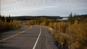 The Ingraham Trail, home to many cabins, in the fall of 2020