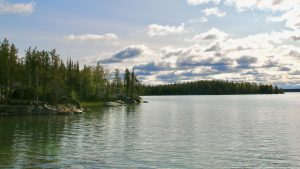 Bighill Lake outside Yellowknife on September 6, 2020
