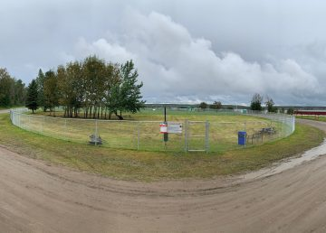 The new dog park in Fort Simpson officially opened on Friday