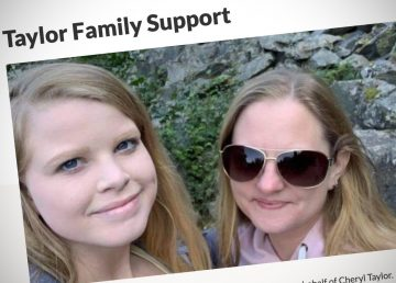 A screengrab of a GoFundMe page set up for Kaitlyn Taylor and her family
