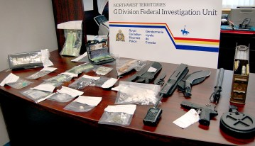 An RCMP handout image of photo of items recovered after arrests made in connection with a 2018 Thanksgiving weekend burglary of a home in Yellowknife
