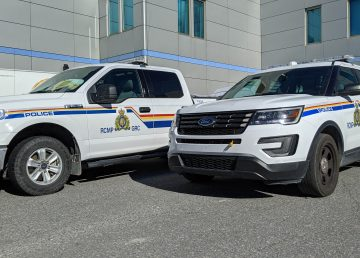A file photo of Yellowknife RCMP vehicles