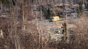 A school bus on the contaminated Giant Mine site