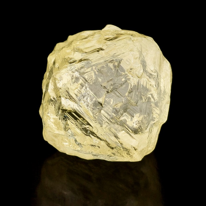The Diavik Helios fancy yellow diamond is seen in a Rio Tinto promotional image