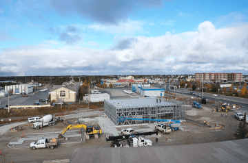 A photo from Soul Foods Group shows the site of a KFC and Starbucks development on Yellowknife's Old Airport Road in fall 2020