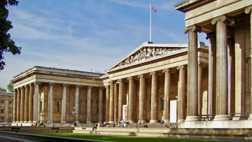 The British Museum's main entrance