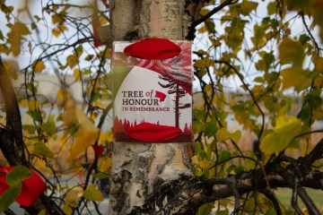 A Tree of Honour ceremony was held in Yellowknife on Thursday to honour missing and murdered Indigenous women and girls