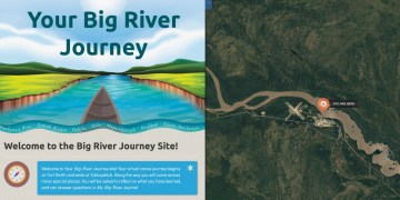 A screengrab of the Your Big River Journey introduction page