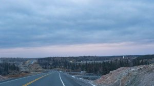 A file photo of the Giant Mine site as seen from the Ingraham Trail on October 15, 2020. Sarah Pruys/Cabin Radio