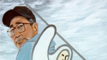 A painting of Edward Lennie, artist unknown. Photo: Inuvialuit Regional Corporation