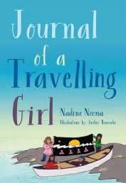 The cover of Journal of a Travelling Girl, a children's novel by Nadine Neema with illustratations by Archie Beaverho