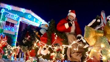 Santa Claus at Yellowknife's 2020 Santa Claus parade