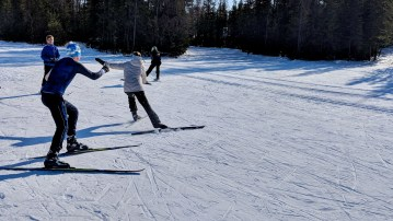Young skiers during a training session at Yellowknife Ski Club in 2018